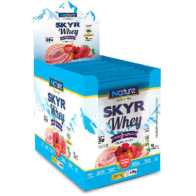 Skyr Whey Morango Display com 12 Sachês