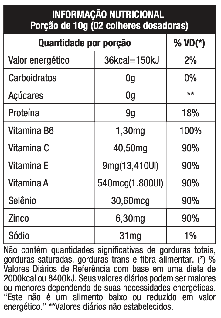 Tabela Nutritional Collagen Beauty Care Pineapple with Mint 300g | Nature Real Nutrition