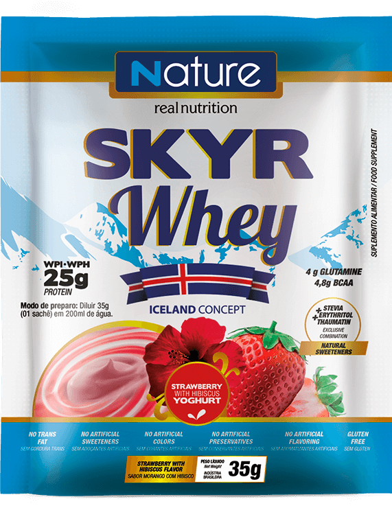 Skyr Whey Morango com Hibisco sachê | Nature Real Nutrition